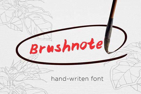 Brushnote Font
