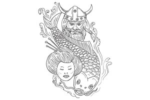 Viking Carp Geisha Head