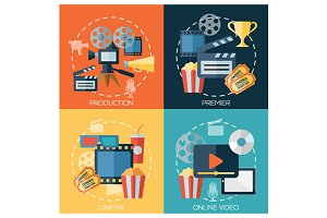 cinema, movie production banners