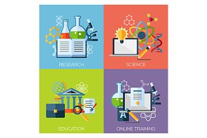 research science education banners