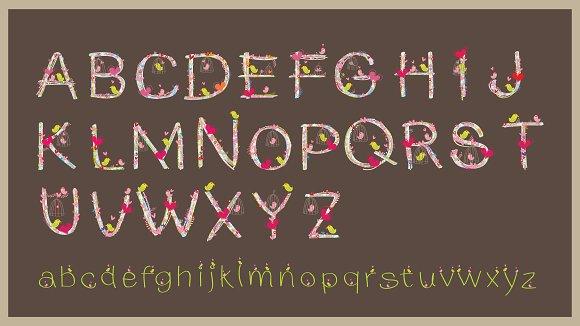 Lover Font Design Vector