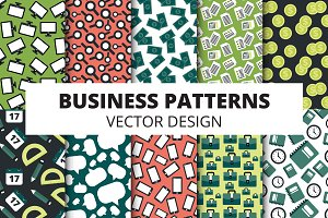 Business icons and patterns