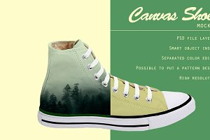 Canvas Shoes Mockup