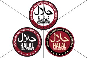 Halal Icon / Label / Badge