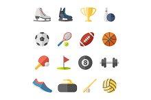 sport flat icons