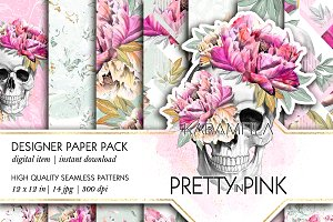 Pretty in Pink Seamless Patterns