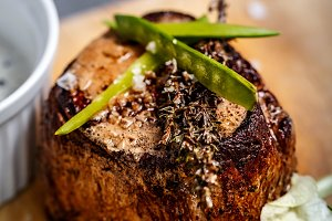 Beef rib-eye steak