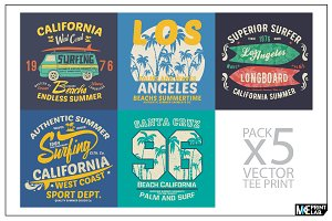 SUMMER LINE TEE PRINTS VECTOR PACK