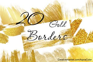 20 hand-painted Gold Borders
