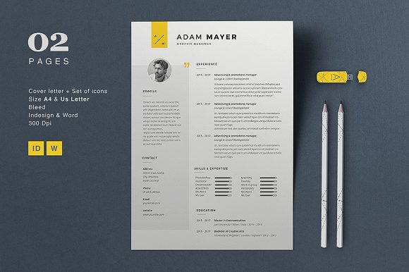 resume adam resume templates on creative market