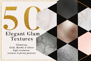50 Gold &Marble Glam Textures