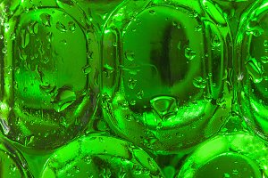Cold green beer background