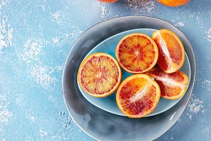 Sicilian Blood oranges fruits