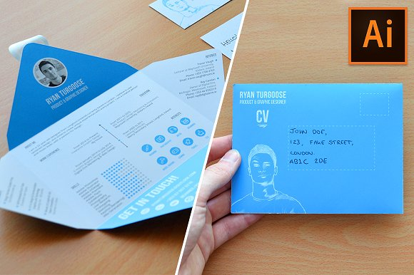 Envelope CV Template