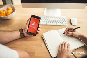 PSD Mockup iPhone Business Office