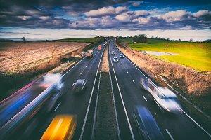 Traffic on Rural Motorway