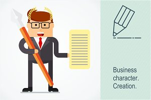 Business character. Creation