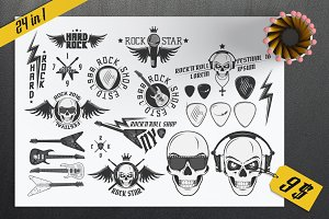 24 in1 Rock and Roll design elements