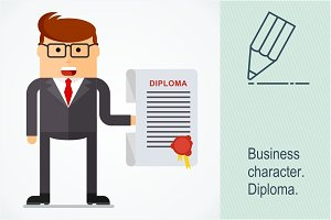 Business character. Diploma
