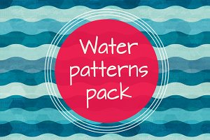 Water vector patterns pack