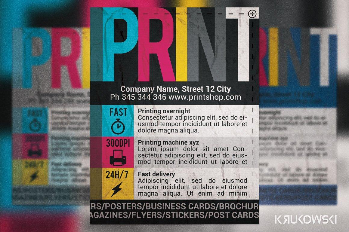 Print Shop Flyer ~ Flyer Templates ~ Creative Market
