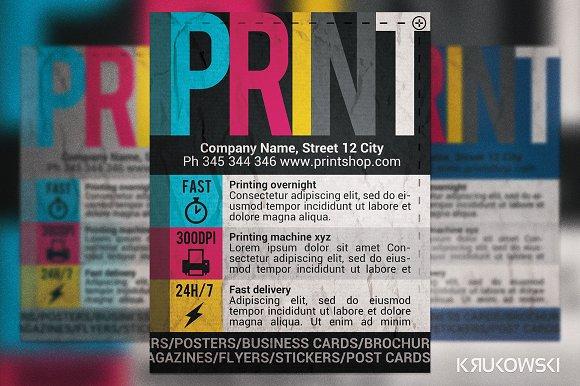 print shop flyer flyer templates on creative market
