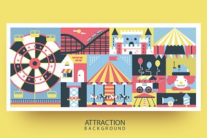 Amusement park abstract background