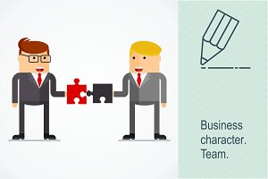 Business character team