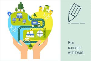 Eco concept with heart