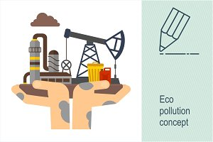 Eco concept. Pollution.