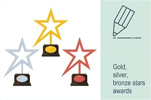 Gold, silver, bronze star award