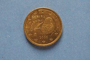 50 euro coin, European Union, Spain