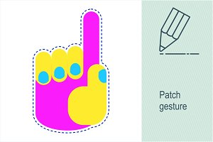 Patch gesture