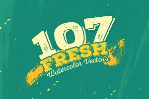 107 Fresh Watercolor Vectors