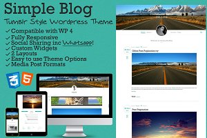 Simple Blog - Tumblr Style WP Theme