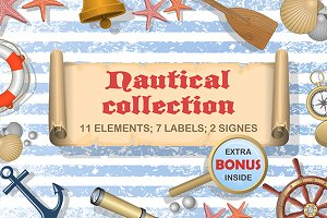 Nautical vectors collection