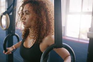 African female exercising