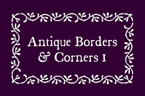 Antique Borders Corners 1