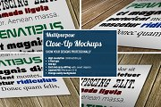 Multipurpose  Close-Up Mockups