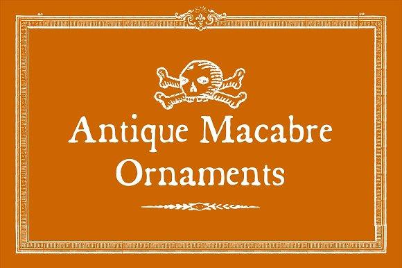 Antique Macabre Ornaments