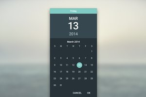 Material Datepicker Dark