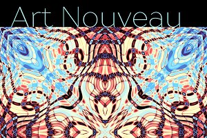 10 abstract Art Nouveau patterns
