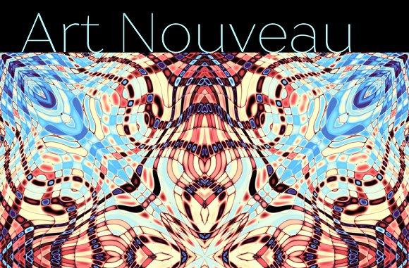 10 Abstract Art Nouveau Patterns