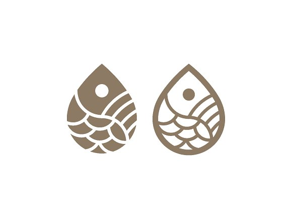 Fish Drop Logo Bundle 1