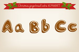 Vector gingerbread alphabet
