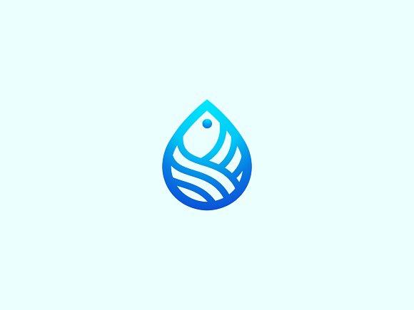 Fish Drop Logo 4