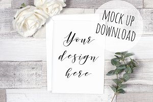 Greeting Card Mockup Photo Scene