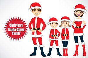 Christmas Santa Claus Family