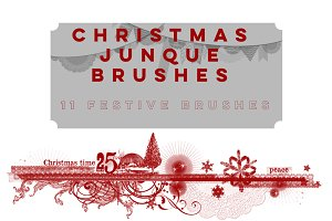 Christmas Junque Brushes