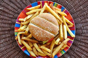 Burger French Fries